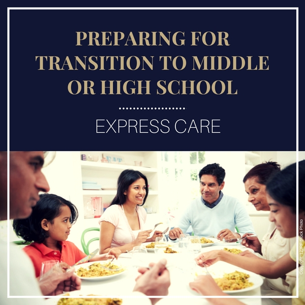 transition to middle school or high school