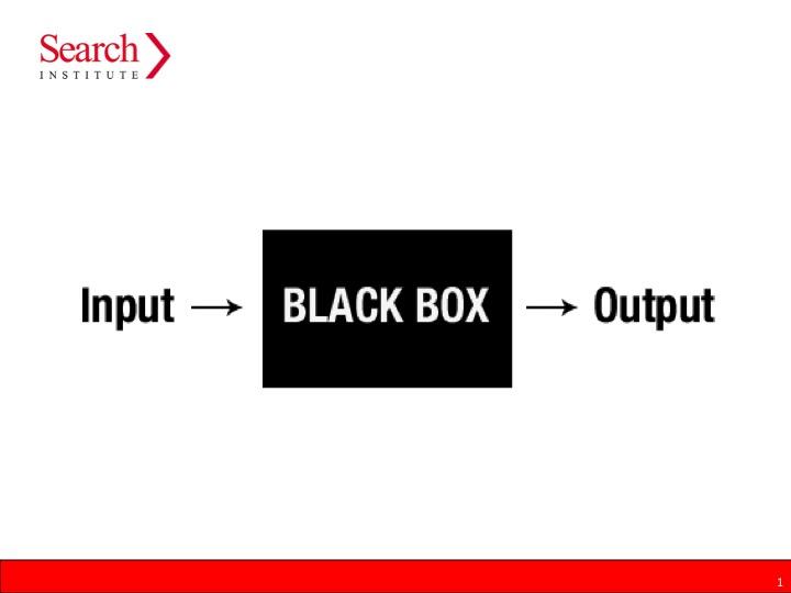 black box of relationships