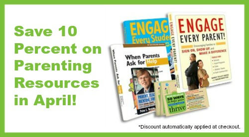 Save 10 percent on parenting resources in April!